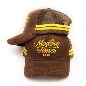 Unisex Modern Times Beer Retro Corduroy & Mesh Hat